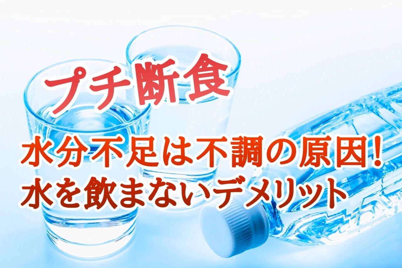 プチ断食 水分不足 デメリット 不調
